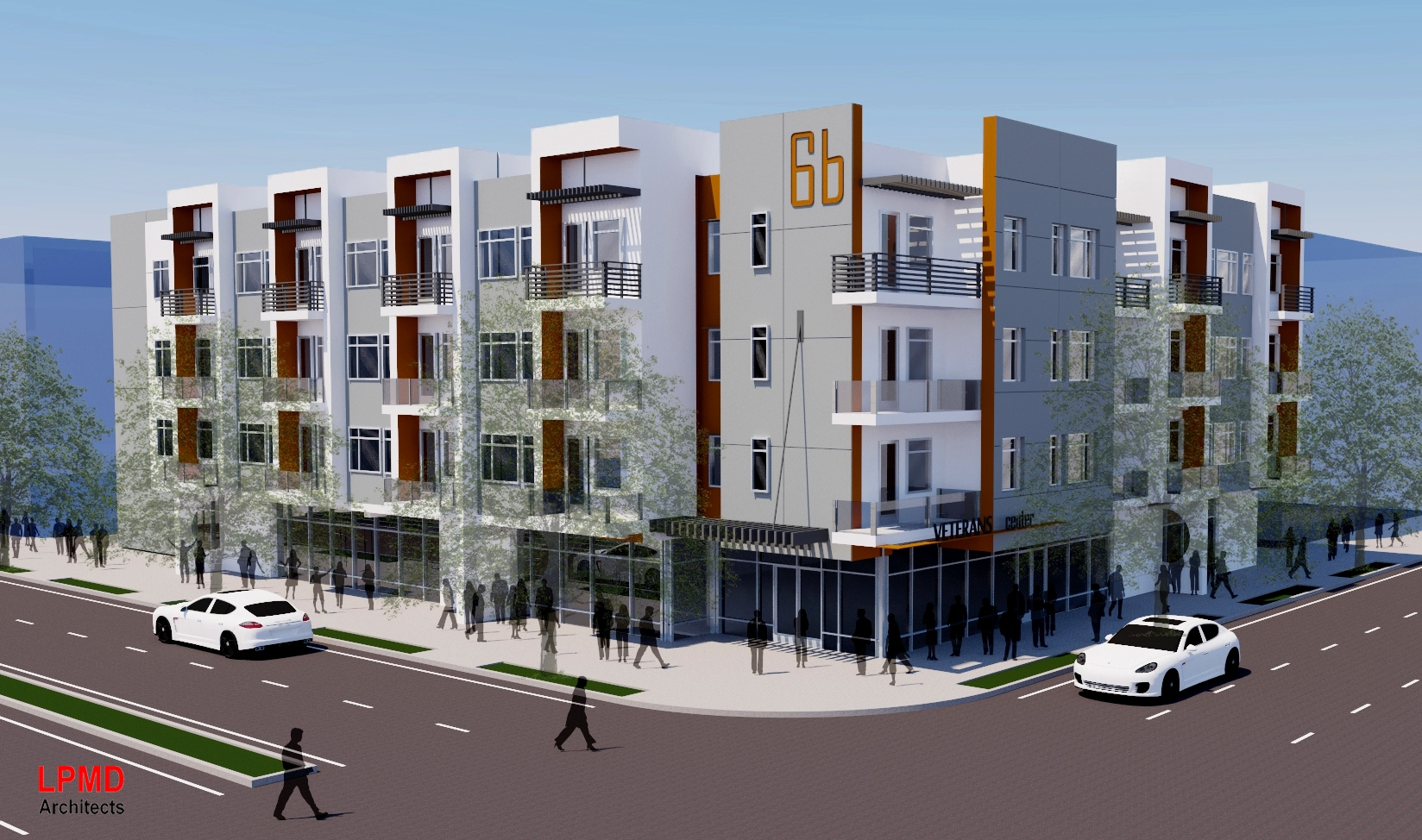 Conceptual Design of Veterans Preferred Affordable Housing Building on Site 6B<br></br>